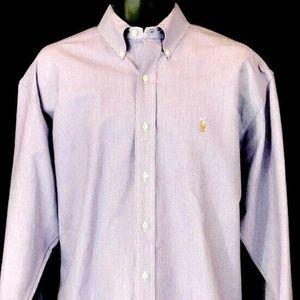 POLO RALPH LAUREN Long Sleeve PURPLE Button Collar
